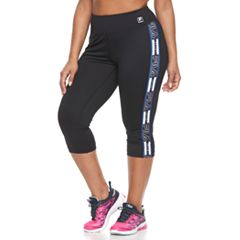 Plus Size FILA SPORT® Heritage Side Panel Capri Leggings