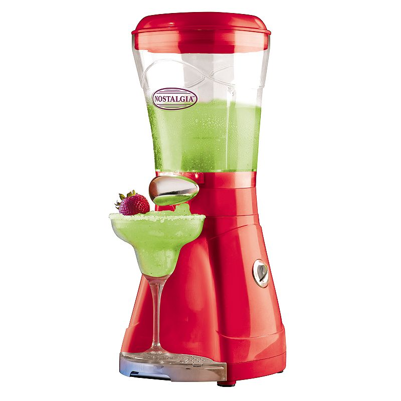 Nostalgia Electrics 64-oz. Margarita & Slush Maker Get the party started with this Nostalgia Electrics margarita and slush maker. Powerful motor quickly shaves ice to the perfect consistency Easy-flow spout dispenses consistently smooth frozen drinks Blending chamber detaches from unit for easy cleaning Included detachable cup rest and drip tray for added convenience PRODUCT CONSTRUCTION CARE Metal, plastic Wipe clean Manufacturer's 1-year limited warrantyFor warranty information please click here 17.6 H x 7.8 W x 8.1 D 64-oz. capacity 200 watts Model no. MSB600  Size: One Size. Color: Multicolor. Gender: unisex. Age Group: adult.