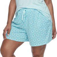 Plus Size Croft & Barrow® Pajamas: Whispery Clouds Boxer Shorts