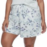 Plus Size Croft & Barrow® Pajamas: Whispery Clouds Boxer Shorts