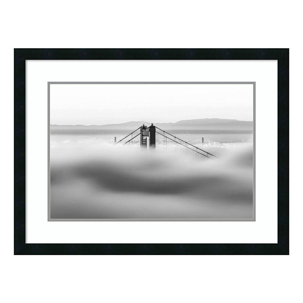 Amanti Art Across The Bay Golden Gate Bridge Framed Wall Art