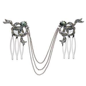 Simply Vera Vera Wang Bow Chain Dual Hair Comb