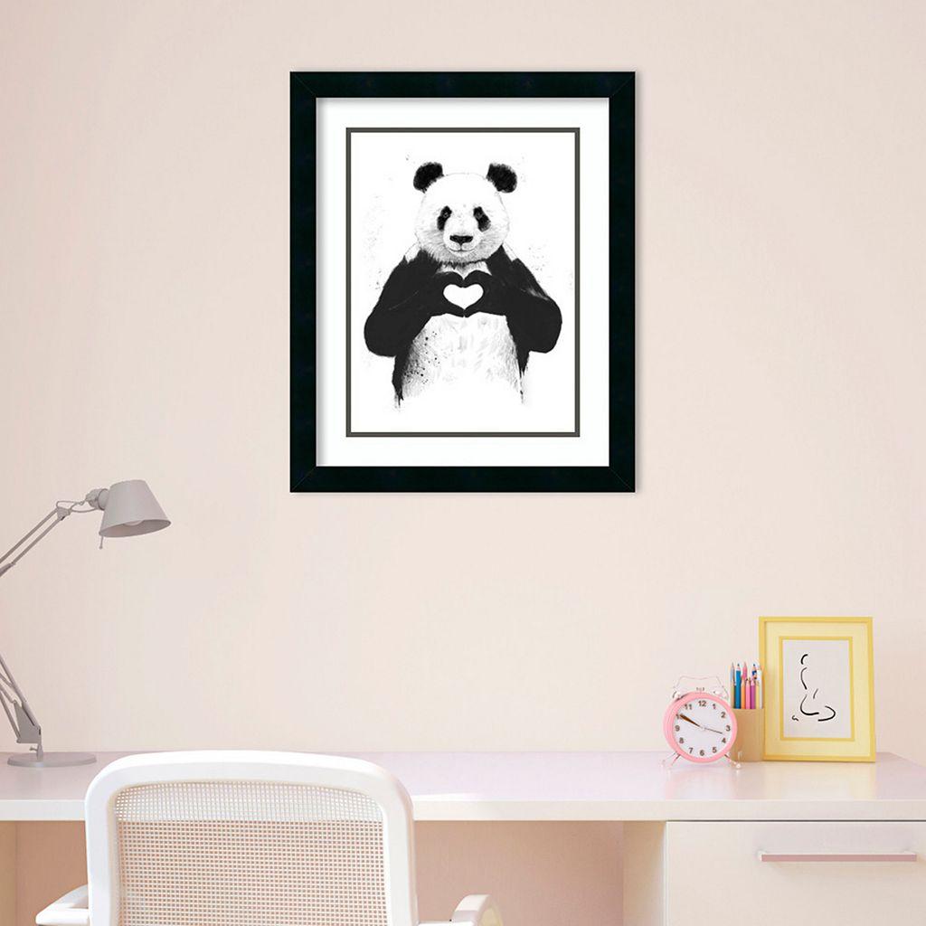 Amanti Art Love Panda Framed Wall Art