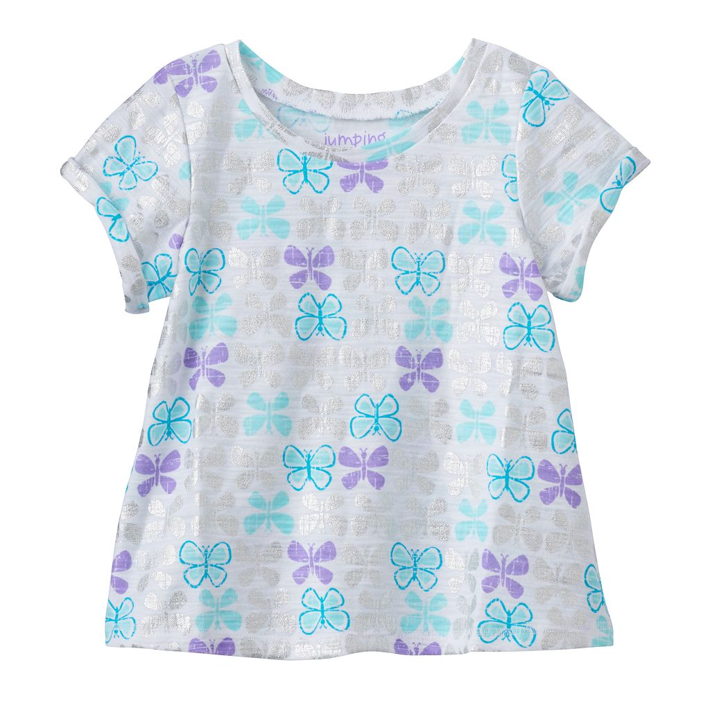 Baby Girl Jumping Beans® Print Swing Tee