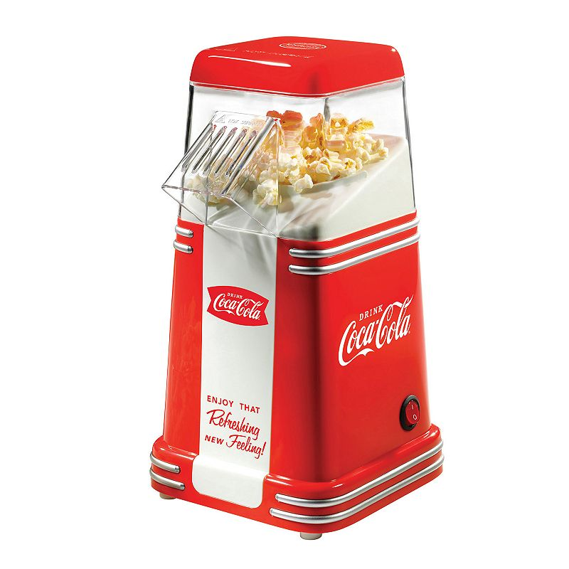 Nostalgia Electrics Limited Edition Coca-Cola 8-Cup Hot Air Popcorn Popper Collectors will love this retro-inspired Coca-Cola popcorn popper by Nostalgia Electrics. Electric popping system uses hot air instead of oil for a healthy snack Limited Edition design PRODUCT CONSTRUCTION CARE Metal, plastic Wipe clean Manufacturer's 1-year limited warrantyFor warranty information please click here 11.8 H x 7 W x 5.75 D 8-cup capacity Model no. RHP310COKE  Size: One Size. Color: Multicolor. Gender: unisex. Age Group: adult.