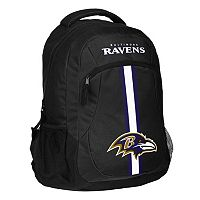 Forever Collectibles Baltimore Ravens Action Stripe Backpack