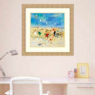 Amanti Art Beach Play 1 Framed Wall Art