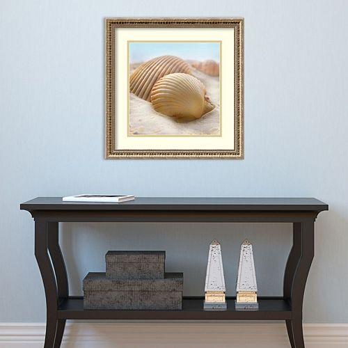 Amanti Art Beachy Shell I Framed Wall Art