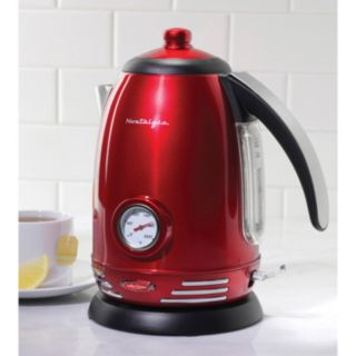 Nostalgia Electrics Retro Series 1.7-Liter Stainless Steel Electric Kettle
