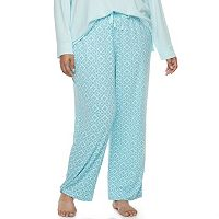 Plus Size Croft & Barrow® Pajamas: Whispery Clouds Long Pants