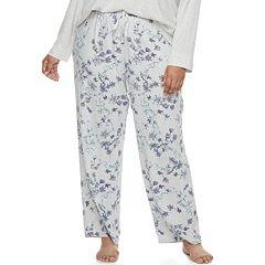 Plus Size Croft & Barrow® Pajamas: Whispery Clouds Long Pants