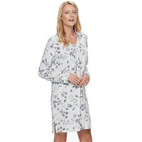 Women's Croft & Barrow® Pajamas: Whispery Clouds Long Sleeve Sleep Shirt