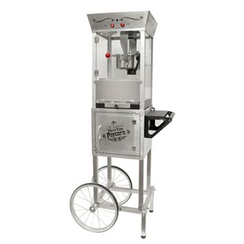 Nostalgia Electrics Vintage Collection Stainless Steel Popcorn Cart