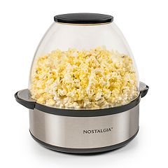 Nostalgia Electrics Stainless Steel Stir-Pop 6-qt. Popcorn Popper