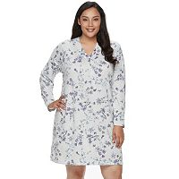 Plus Size Croft & Barrow® Pajamas: Whispery Clouds Long Sleeve Sleep Shirt