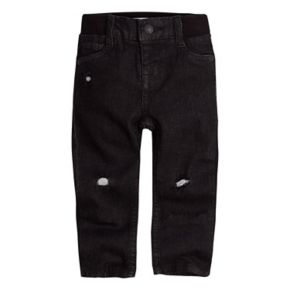 Baby Boy Levi's My First Skinny Distressed Black Jeans