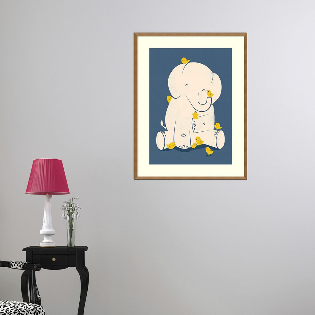 Amanti Art Mama Elephant Framed Wall Art