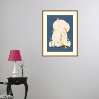 Amanti Art Mama Elephant Framed Wall Art