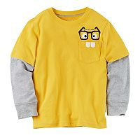 Toddler Boy Carter's Mock-Layer Pocket Graphic Tee