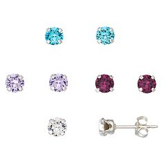 Charming Girl Kids' Crystal Stud Earring Set