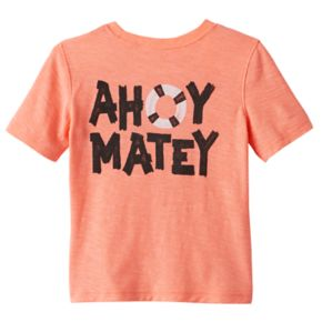 """Toddler Boy Jumping Beans® Skull """"Ahoy Matey"""" Graphic Tee"""