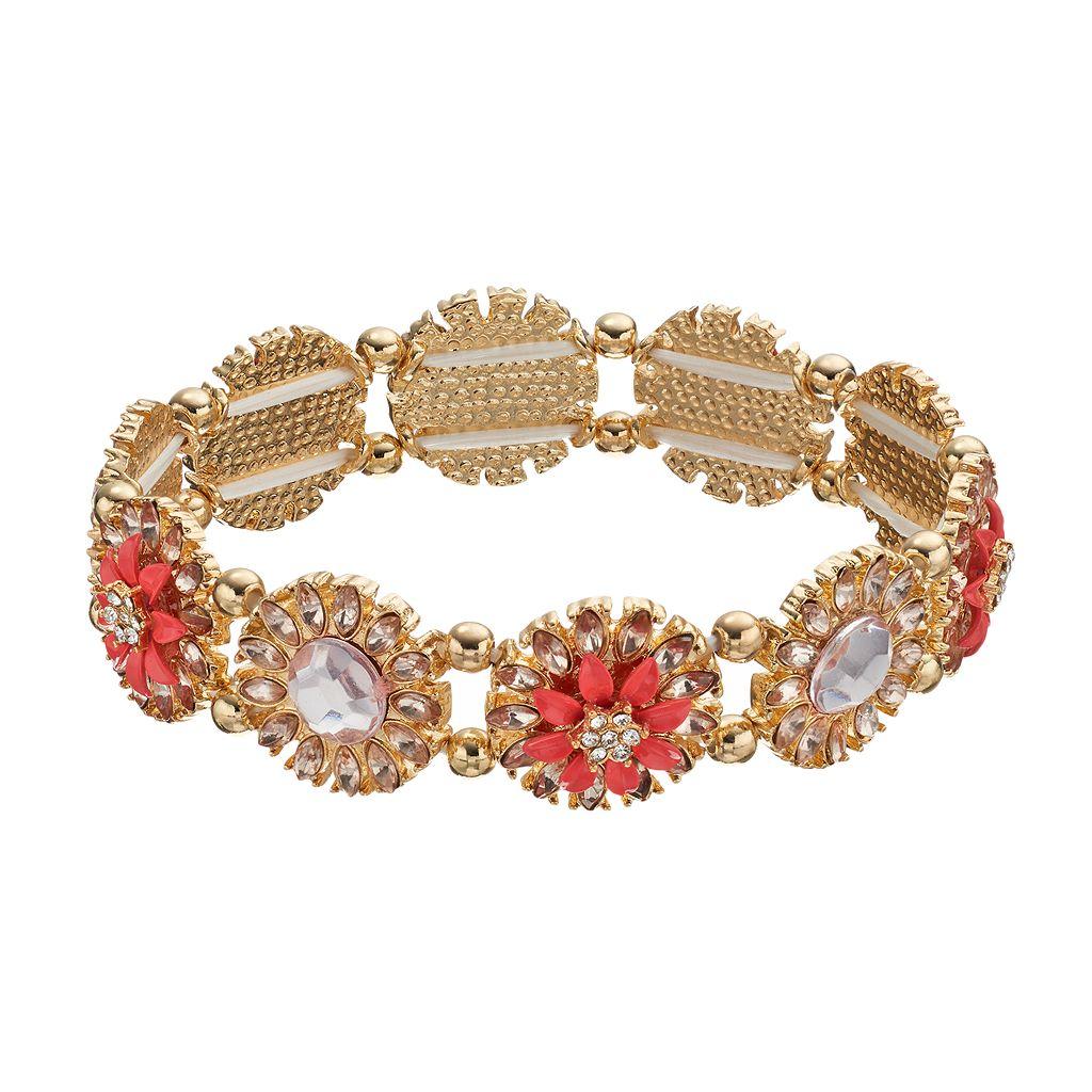 LC Lauren Conrad Flower Link Stretch Bracelet