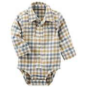 Baby Boy OshKosh B'gosh® Blue & Yellow Plaid Bodysuit