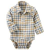 Baby Boy OshKosh B'gosh® Blue & Yellow Plaid Bodysuit