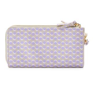 Buxton Dotty Dots Double L-Zip Wallet