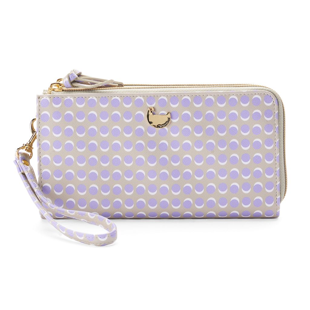 Buxton Dotty Dots Double L-Zip Wallet