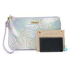 Buxton Tropical Palms RFID-Blocking Phone Charging L-Zip Wristlet