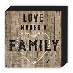 Belle Maison 'Love Makes A Family' Box Table Decor