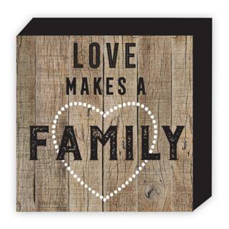 "Belle Maison ""Love Makes A Family"" Box Table Decor"