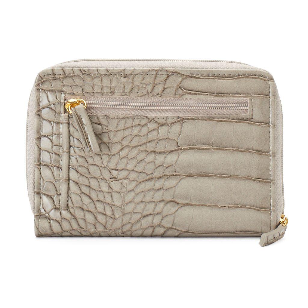 Buxton Nile Exotic Zip-Around Wallet