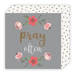 Belle Maison 'Pray Often' Box Table Decor