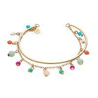 LC Lauren Conrad Shaky Bead Chain Cuff Bracelet