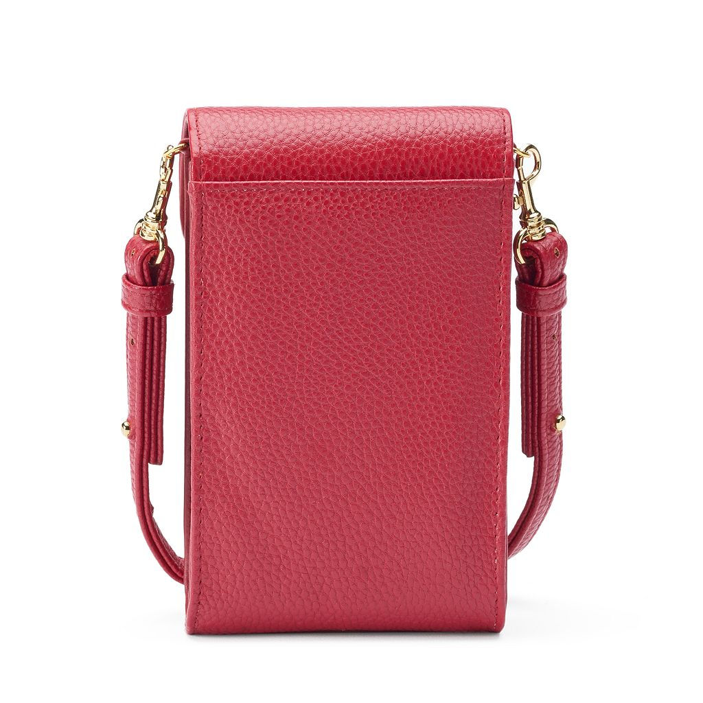 Buxton Pebbled Crossbody Cell Phone Bag