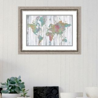Amanti Art Boho Map II Framed Wall Art