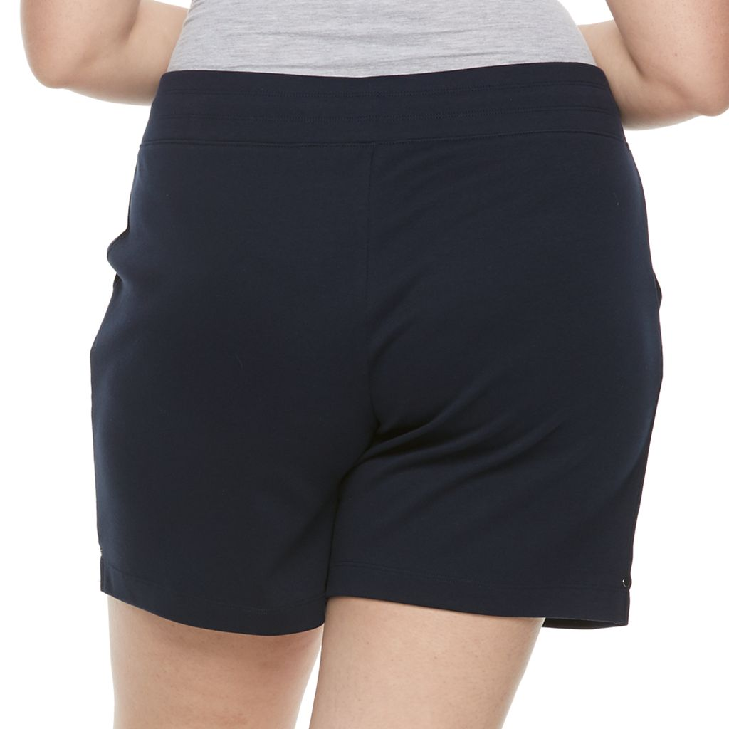 Plus Size Croft & Barrow® Knit Bermuda Shorts