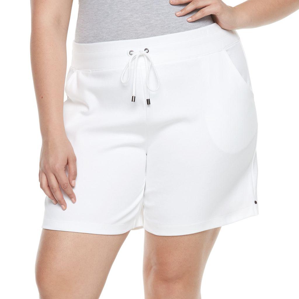 Plus Size Croft & Barrow® Knit Bermuda Shorts