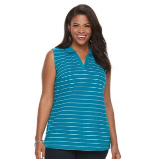 Plus Size Croft & Barrow® Solid Sleeveless Polo
