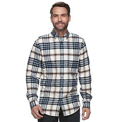 Big & Tall Croft & Barrow® True Comfort Plaid Slim-Fit Flannel Button-Down Shirt