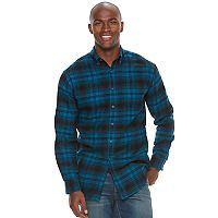 Big & Tall Croft & Barrow® True Comfort Plaid Classic-Fit Flannel Button-Down Shirt