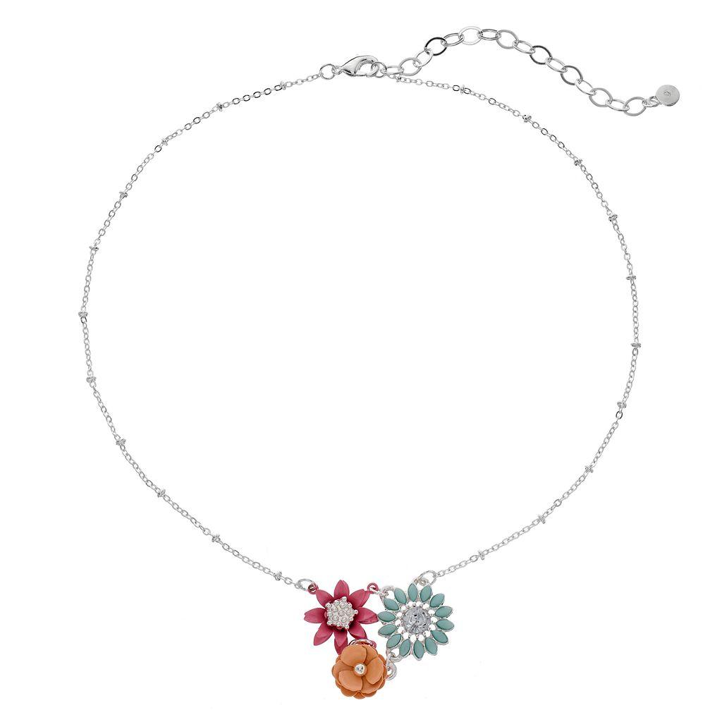 LC Lauren Conrad Flower Cluster Necklace