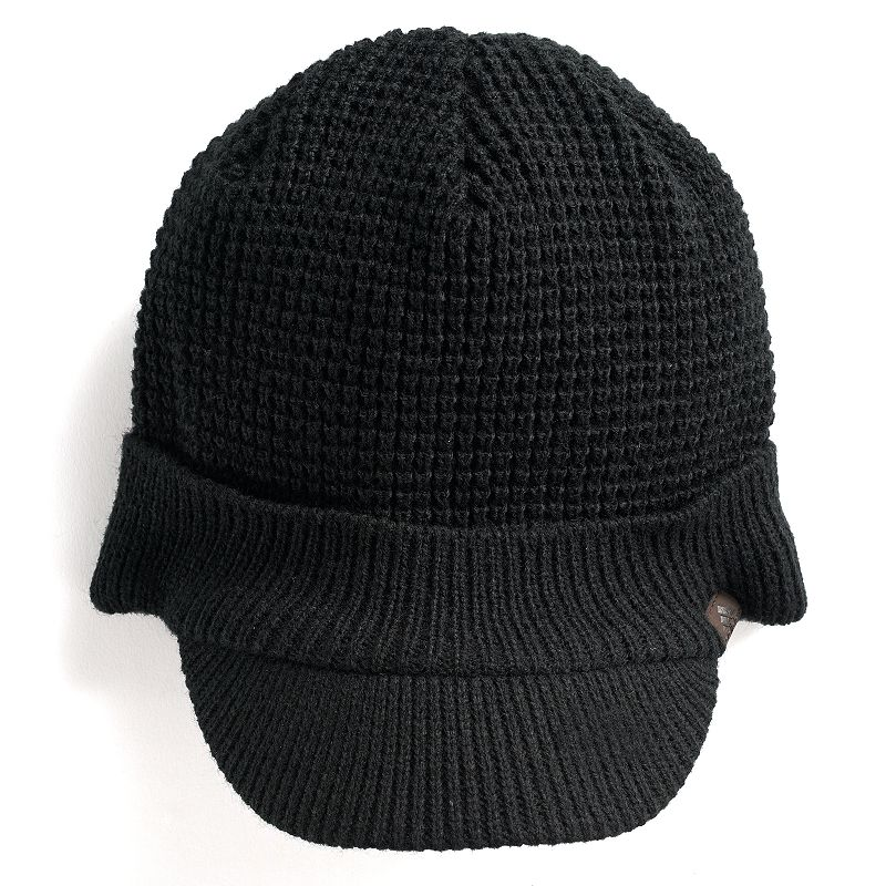 Men's Adidas Griggs Brimmer, Black Add the finishing touch to your look with this stylish men's hat from Adidas. Climawarm fabric traps in heat to keep you warm Fully lined Curved brim FIT & Sizing One size fits most Fabric & Care Acrylic Hand wash Imported Size: Onesize. Color: Black. Gender: Male. Age Group: Adult. Material: Polyester.