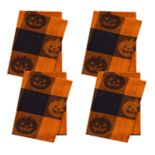 Celebrate Halloween Together Woven Jacquard Pumpkin Napkin 4-pk.