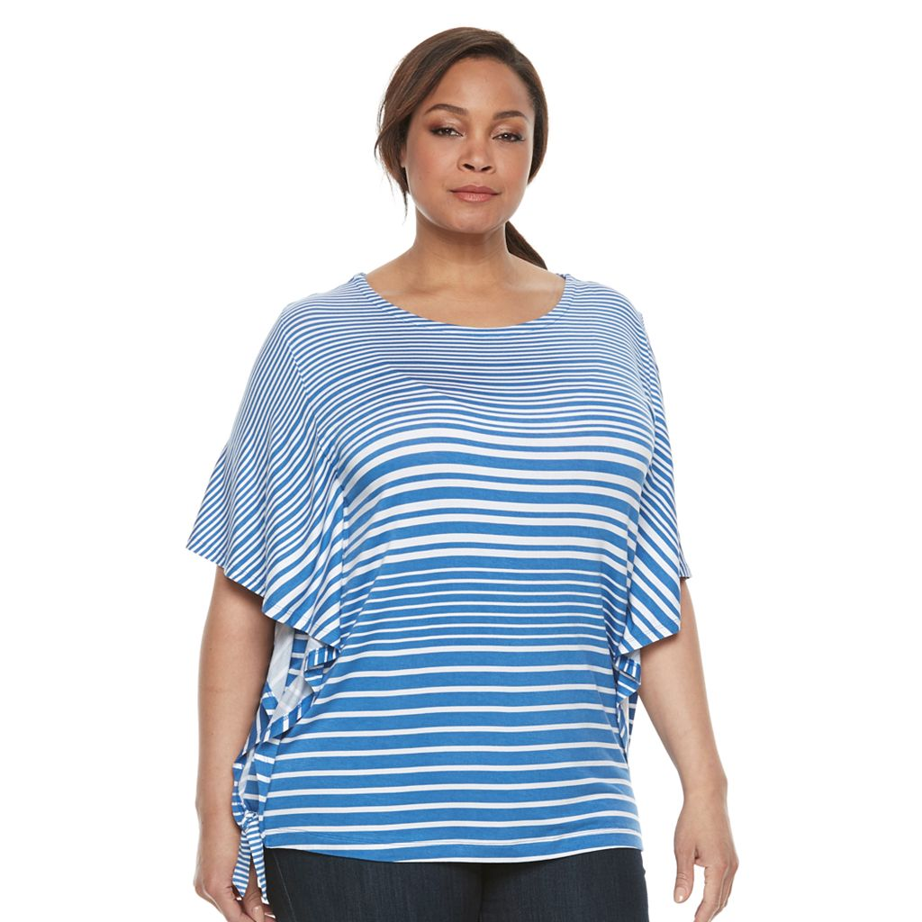 Plus Size Croft & Barrow® Printed Flutter Top