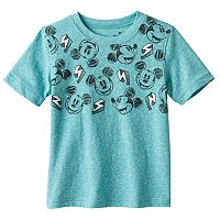 Disney's Mickey Mouse Toddler Boy Slubbed Lightening Bolt Tee by Jumping Beans®