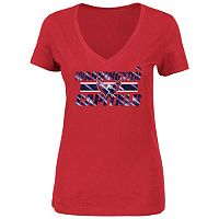 Plus Size Majestic Washington Capitals V-Neck Tee