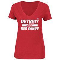 Plus Size Majestic Detroit Red Wings V-Neck Tee
